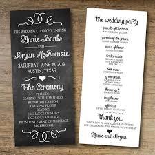 Templates For Wedding Programs Free Wedding Program Templates Printable Wedding Programs