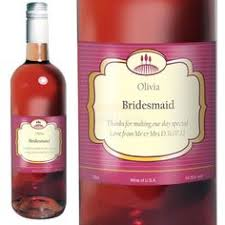 personalised bridesmaid rose wine clic label olive and finch alcohol gifts gifts for wedding