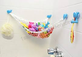 angelcareeurope bath toy organizer with 3 strong suction cups bath toy storage net and corner shower