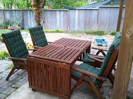 outdoor wooden table oil