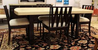 mid century modern paul frankl cork top mahogany dining set table four chairs at 1stdibs
