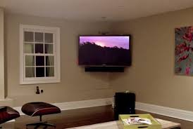 Corner tv installation