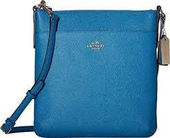Coach Womens Leather Crossbody Shoulder Handbag Blue Small