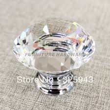 crystal cabinet knobs. 2pcs 30mm zinc alloy clear glass crystal cabinet knobs and handles dresser knob kids pulls