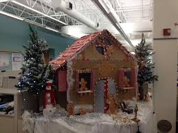 images office cubicle christmas decoration. Decorated Office Cubicles Can Boost Morale At The Leland Outdoor Santaus Workshop Building Concept Is Images Cubicle Christmas Decoration N