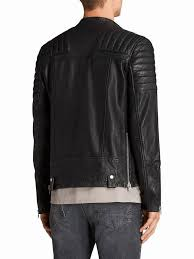 allsaints jasper leather biker jacket black mid mens leather suede jackets 100 lamb leather allsaints azty up to 71 off