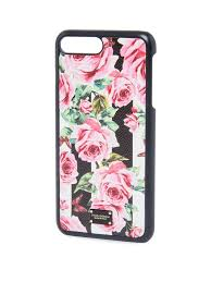 dolce gabbana rose print leather iphone 7 plus case rose line women s wallets
