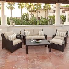 op peoss6 slt k tan 6 piece wicker outdoor patio furniture set