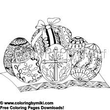 Elegant Easter Eggs Coloring Page 1907 Ultimate Coloring Pages