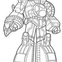 Small Picture Power rangers and dino robot coloring pages Hellokidscom