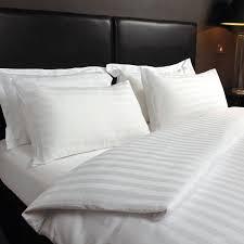 lesino satin stripe bed linen