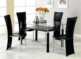 glass dinner table and chairs nice glass dining room table set contemporary sets bedroom black glass