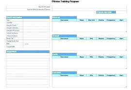 Exercise Program Templates Fitness Training Schedule Template Workout Session Plan