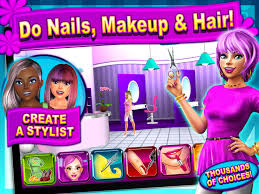 sunnyville salon game play free hair nail make up games image 1