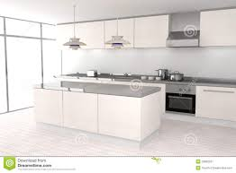 White Modern Kitchen Royalty Free Stock Photography Image - White modern kitchen