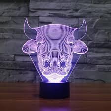children bedroom lighting. 3d led night light bull shapes decorative lights children bedroom lighting y