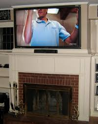 cheshire ct 65 lcd tv over fireplace complete custom home theater
