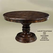outstanding 60 inch round dining tables design ideas dark walnut finish 60 inch austin padestal