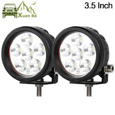 Mini Round Led Lights Us 43 4 30 Off Xuanba 2pcs 3 5 Inch 18w Mini Round Led Work Light For 4x4 Offroad Truck Motorcycle Tractor 12v 24v Atv Driving Lights Fog Lamp In