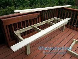 nice diy patio bench porch plans jack sander deck
