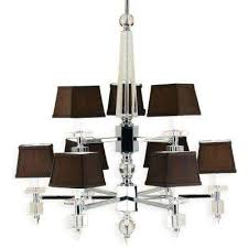 6760 9 light chrome chandelier with chocolate shades