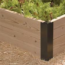 all aluminum raised bed corners and
