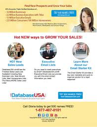 500 Sales Leads Free Databaseusa Special Offer