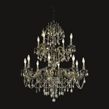 european style 8 4 lights clear crystal antique brass chandelier