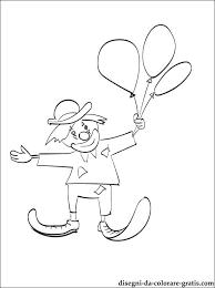 Disegno Di Clown Con Palloncini Da Colorare Disegni Da Colorare Gratis