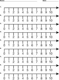 Number Line, 0-10 | ClipArt ETC