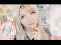 dolly makeup updated 人形のメイクアップ
