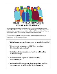 choose respect healthy relationship mini unit 25