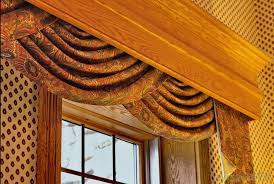 typically larger than the top frame of a window a valance can cover rods brackets and other curtain hardware