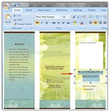 How To Create A Pamphlet In Word 2010 How To Create A Trifold Brochure In Word 2007 Carlynstudio Us