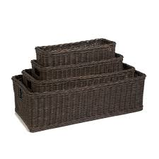 Long Low Wicker Basket | The Basket Lady