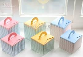 Decorating Boxes With Paper PinkBlueYellow Cupcake Box Portable Cute Paper Cake Boxes Bake 61