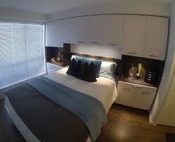 bed surround storage contemporary bedroom