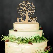 wedding cake toppers. mr \u0026 mrs wedding cake toppers tree wood decorations, funny bride and groom e