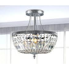 semi flush chandelier mount french empire crystal