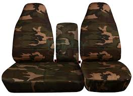 ford f 150 60 40 high back brown and green camo seat covers