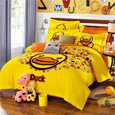 cute yellow duck kids bedding set king queen twin size cartoon quilt duvet cover designer 100 bedroom queen sets kids twin