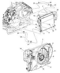 2007 jeep mander radiator related parts