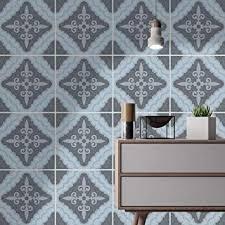 Dekorative Wandfliese Kunst Mosaik Amazon Homeartdecor Dekorative Fliesen Marokkanische Vintage Blau Und Grau Fliesenaufkleber Einfach Schälen