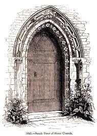 drawn doorway vine door 1