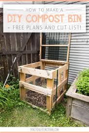 Worm Bin Design How To Build A Diy Compost Bin Free Plans Cut List