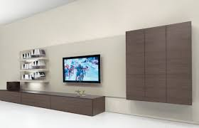 Furniture:Charming Living Room Wall Cabinet Furniture With Slim Tv Wall And  White Flooring Idea