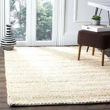 white jute rug handmade natural fiber haven bleach off black and stripe