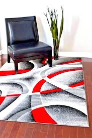 red black and white rug red gray rug modern area rug gray red white red black