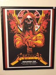 got this sick print for free back in may of 2017 at my first metallica concert goodwill frames ftw