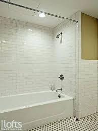 tiling a tub surround subway tile shower surround the tub shower unit features a subway style tiling a tub